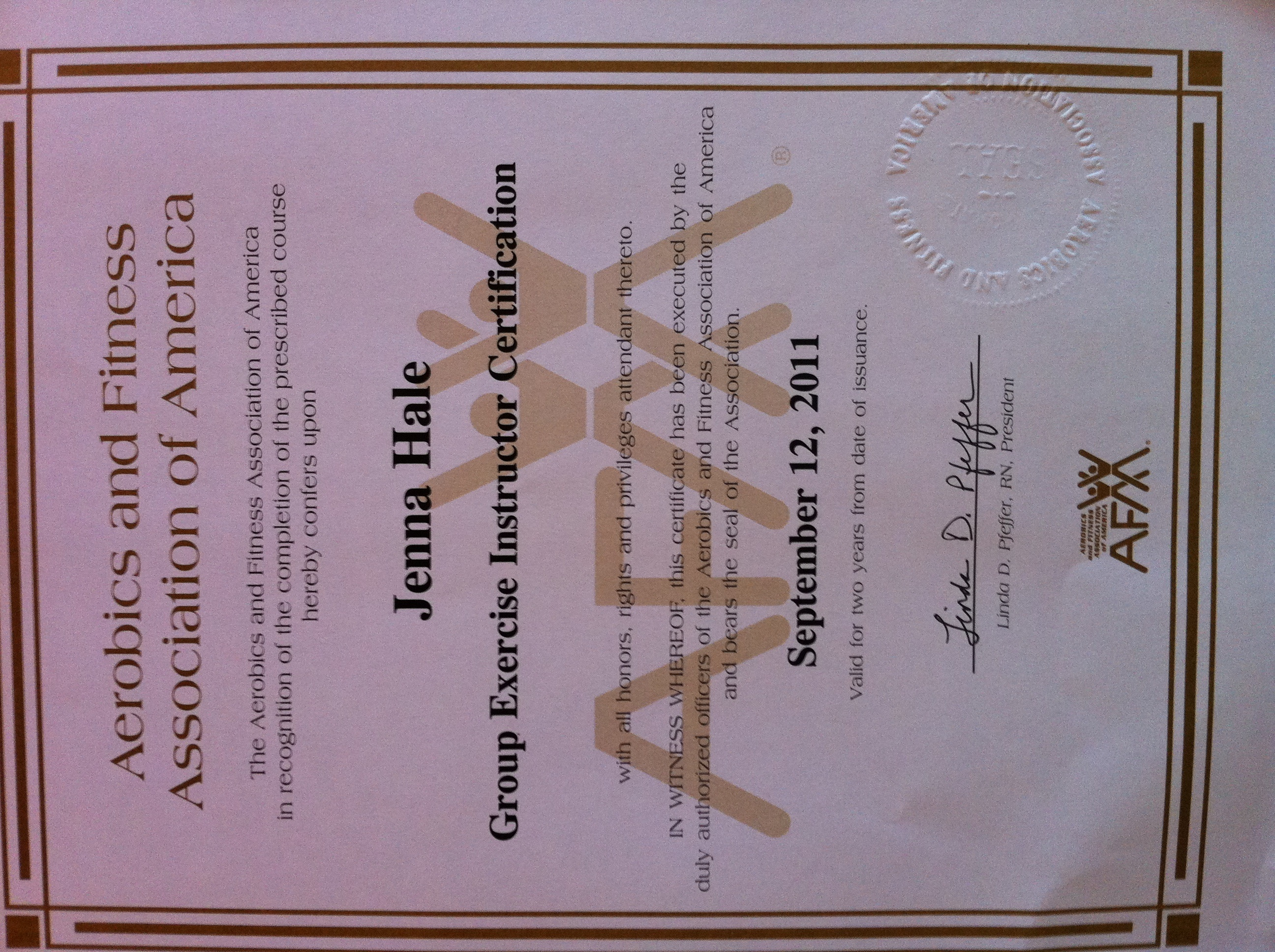Afaa Primary Group Exercise Certification - All The Best Exercise In ...